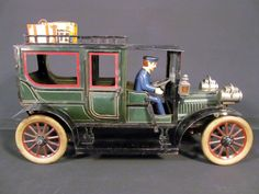 Carette Limousine Circa 1910 German Tin Clockwork 16 inch Toy Car.