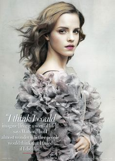Emma Watson stars in a spread shot by Patrick Demarchelier for the June 2010 issue of Vanity Fair.