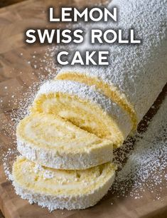 Double Lemon Swiss Roll Cake Page 2 Home delicious recipes to cook with family and friends Lemon Desserts, Lemon Recipes, Just Desserts, Sweet Recipes, Baking Recipes, Swiss Desserts, Lemon Curd Dessert, Lemon Curd Cake, Egg White Recipes
