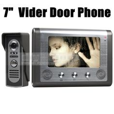 DIYSECUR 7 inch Wired Video Door Phone Door Bell System Kit Home Security Entry 2 Way