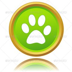 Paw of an animal icon ...  abstract, application, art, background, bar, black, blog, button, close, design, fingers, four, green, icon, illustration, image, internet, love, network, new, panel, paw, play, rewind, shot, sign, site, skin, symbol, web, www