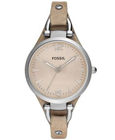 Fossil Watch, Women's Georgia Sand Leather Strap 32mm ES2830 - Watches - Jewelry & Watches - Macy's