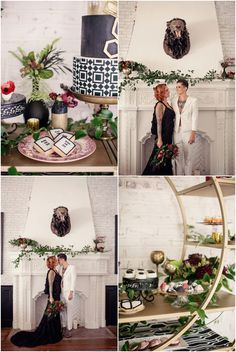 Geometric Styled Shoot at The Ebell Club in Long Beach, California