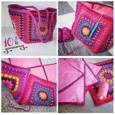 Best 9 Latest And Modern Design for Crochet Designs Ideas – Page 486740672227940926 – SkillOfKing. Crochet Amigurumi, Crochet Tote, Crochet Handbags, Crochet Purses, Diy Crochet, Sac Granny Square, Knitting Patterns, Crochet Patterns, Crochet Designs