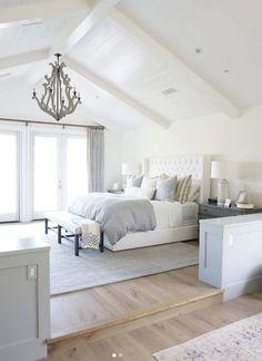 T & G – White painted ceiling - white bedroom furniture Home Decor Bedroom, Home Bedroom, Bedroom Interior, Bedroom Design, Home Decor Styles, Master Bedrooms Decor, Brighter Bedroom, Home Decor, Remodel Bedroom
