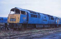 Martyn Hilbert's Railway Photography - BR Blues - Western Class 52, D1021-'Western Cavalier' at Swindon Works.