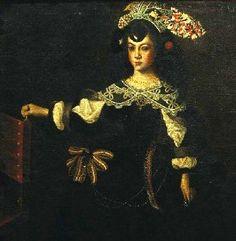 Portuguese painting! Catarina de Bragança, infanta de Portugal, Princesa da Beira, mais tarde Rainha de Inglatera, enquanto criança. Museu de Vila Viçosa, autor José de Avelar Rebelo