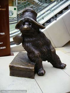 Paddington-bear, Paddington Station in London.