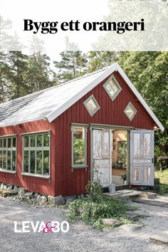 Dream Garden, Home And Garden, Red Houses, Greenhouse Gardening, Decoration, My House, Winter, Building A House, Pergola