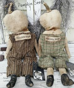 Primitive Doll Pattern Pumpkin Scarecrow E PDF Email Patterns Halloween Everyday Raggedy Rag Ragdoll by VeenasMercantile on Etsy