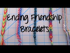 How To : 8 Method's To Begin Friendship Bracelet's/Other Projects - YouTube