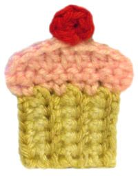 "Free pattern for ""Cupcake Applique""!"