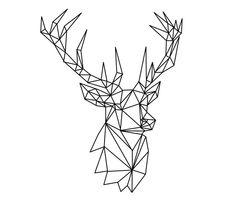So langsam lassen sich immer mehr Waldbewohner von dem Poly-Trend anstecken. Nach der Poly Owly bilden sich nun auch Hirsche komplett aus Dreiecken und zeigen sich auf unseren Klamotten und Taschen. #urich #poly #deer #illustration