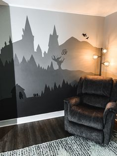 Baby Room Paintings, Room Wall Painting, Harry Potter Magic, Harry Potter Pictures, Harry Potter Nursery, Cute Little Houses, Study Room Decor, Cool Rooms, Girl Room