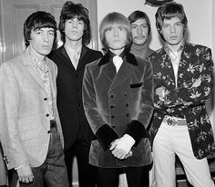 The Rolling Stones at The Royal Albert Hall their first British Tour in a year Left to right Bill Wyman Keith Richards Brian Jones Charlie Watts and...