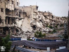Syria City Of Homs Following Bombings By Syrian Government May City