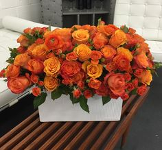 Send the Grand Rhapsody in Orange bouquet of flowers from Be A Tall Poppy in Los Angeles, CA. Local fresh flower delivery directly from the florist and never in a box! Fall Flowers, Fresh Flowers, Pretty Flowers, Wedding Flowers, Coffee Table Flowers, Rose Flower Arrangements, Fresh Flower Delivery, Arte Floral, Flower Boxes