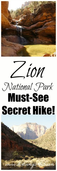Zion National Park - Secret Hike. This is a must-see, short hike to a waterfall that you can't find on the Zion Park map!