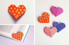 DIY: Segnalibro origami a forma di cuore | Corner heart...