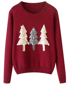 Christmas Bead Round Neck Knitwear