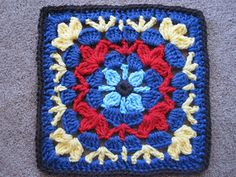 Catalina Afghan Square by Julie Yeager