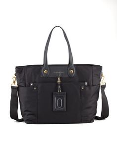 Preppy+Nylon+Eliz-A-Baby+Diaper+Bag,+Black+by+MARC+by+Marc+Jacobs+at+Neiman+Marcus.