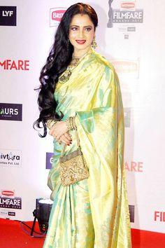 Beautiful Rekha in a simple saree