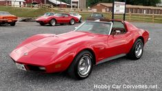 See Video and Pics of this beautiful 1973 Red Corvette Stingray 4spd, saddle interior power steering power brakes, rally wheels, and much more