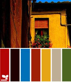Vivid Tuscan Decorating Colors