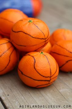 cute basketball snack for kids