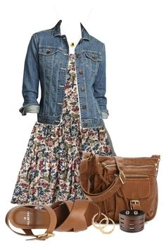 A fashion look from July 2015 featuring flower print dress, high heel platform shoes and brown crossbody. Browse and shop related looks. Cute Fashion, Look Fashion, Girl Fashion, Fashion Outfits, Mode Outfits, Pretty Outfits, Stylish Outfits, Spring Outfits, Cute Summer Outfits