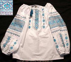 Handmade Ukrainian hand embroidered women's blouse #WS10-4372 from Western Ukraine, sold on AllThingsUkrainian.com