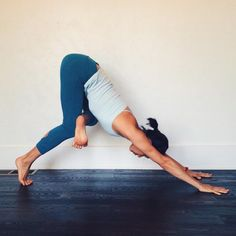 practiceyoga-la: While downward facing dog is a forward fold in the pelvis and…
