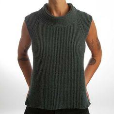 Vest i patent - Strik Design Knit Vest, Drops Design, Crochet Clothes, Turtle Neck, Sweaters, Model, Inspiration, Outfits, Knitting Ideas