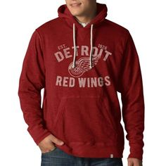 '47 Brand Detroit Red Wings Vintage Slugger Pullover Hoodie - Red