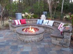 Firepit - would love to have this, with a wood burning pizza oven out there too by mrspmerideth