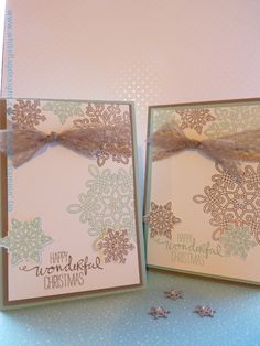 Stampin' Up's Flurry of Wishes Christmas Cards