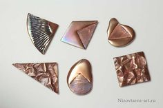 "A series of brooches ""Geometry"""