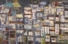 """Hong Kong"" 100x120 acryl mixed/media (Maja Boot)"