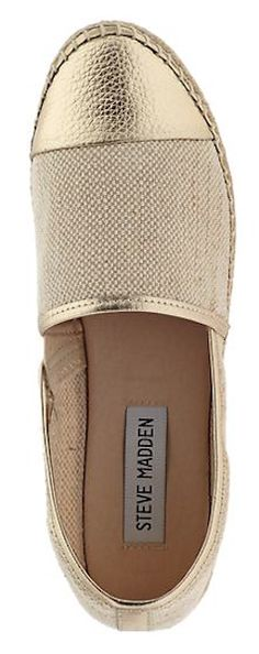 Steve Madden #gold espadrilles  http://rstyle.me/n/ivyq2pdpe