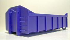 Schutt-Abrollcontainer-Container-1-32-Spur1-Handarbeitsmodell-Polystyrol-gebaut