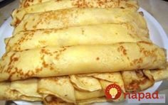 Tasty pancakes w/o milk and eggs - can be a vegan diet. Hungarian Desserts, Hungarian Recipes, Russian Recipes, Crepes And Waffles, Tasty Pancakes, Sweet Desserts, Sweet Recipes, Baking Recipes, Dessert Recipes