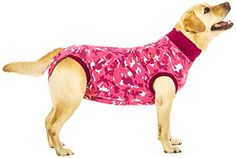 Suitical Recovery Suit Large for Dogs in Pink Camo.   Raya can be styling as she recovers from surgery.
