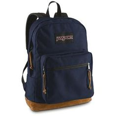 JanSport Right Pack Backpack. Yeah, I know I pinned a red one and wrote that I'd buy it, but maybe I'll buy a navy one instead.