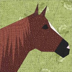 Horse Heads Paper Piece PDF  Quilt Patterns by by madcreekdesigns