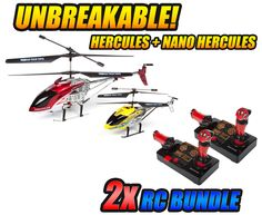 Get your hands on this fun #Hercules and Nano Hercules #Unbreakable Helipilot #rchelicopter from #hobbytron. #rcheli #gyro #hthelicopter -- Get yours today for only $99.95.