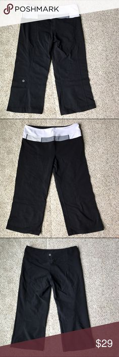 Lululemon Black Capris Reversible Pants In good condition lululemon athletica Pants Capris