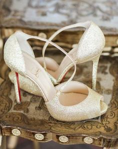 Wedding shoes idea; Featured Photographer: Justin DeMutiis Photography