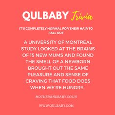 Qulbaby Trivia: It's completely normal for their hair to fall out. Baby Trivia, Trivia Facts, Of Montreal, New Mums, Cravings, Babies, Fall, Fall Season, Autumn