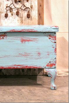 red-turquoise-distressed-chest-diy-craft@petticoatjunktion.com